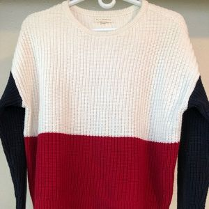 Red white and blue lightweight sweater
